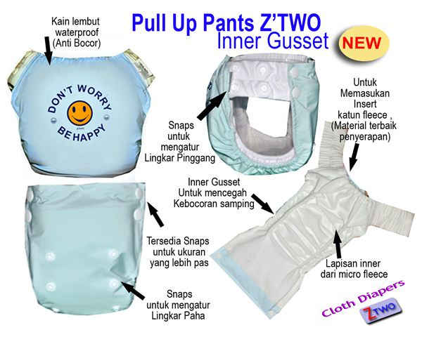 ztwo clodi pull up pants murah